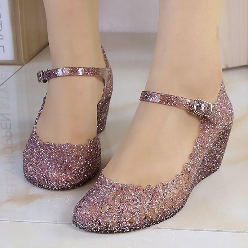 Kamalar Sandalet Kadınlar Jelly Ayakkabı Moda Klasik gelen artışlar Şeffaf Sandalet Bayan Yaz Ayakkabı Kadın Sandalet Y200620