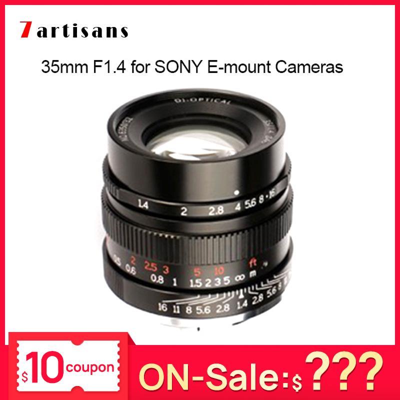7artisans 35 milímetros F1.4 full frame Len para Todos Série Única E-mount lente da câmera para SONY A7 A7II A7R A7RII A7m3 A7RM3 A7M3
