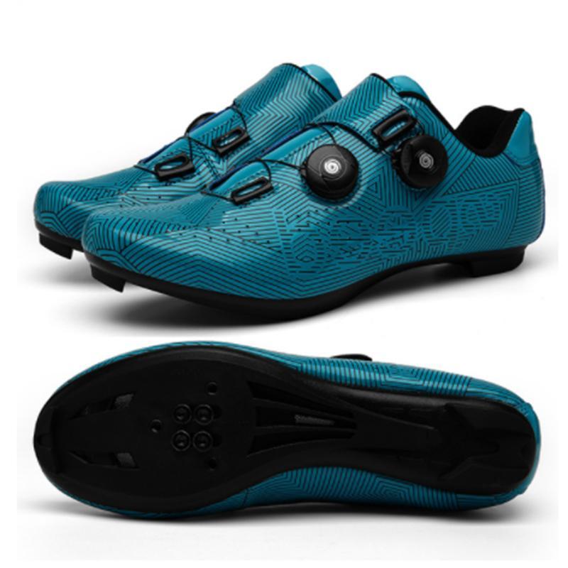 la visión nocturna antideslizante absorción de los zapatos de bicicleta de carretera MTB aire libre que monta 5D zapatos bloqueo del camino MTB colorido de la bicicleta