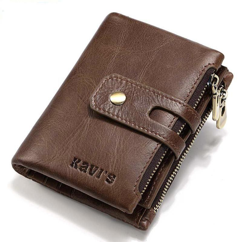 Estilo de couro ambos Will Willet Kavis e Fundo American clipe homem Capacidade curta para homens Checkbook Europeu Zipper Dinheiro Bolsas Adlni
