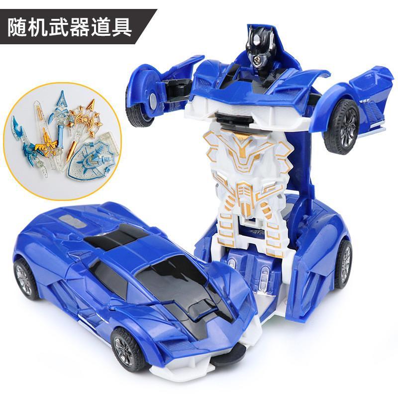 Nuovo arrivo di Un-chiave deformazione auto Giocattoli automatica trasforma robot di plastica Model Car divertente giocattoli per i ragazzi stupefacenti regalo del giocattolo del capretto TST