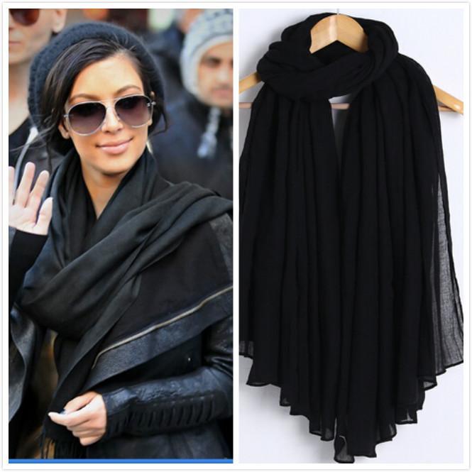 Новая мода WomenMen шарф Хлопок Вискоза мягкая дамы шарф шали палантины Женский Мусульманский хиджаб шарф / шарфы падение корабля