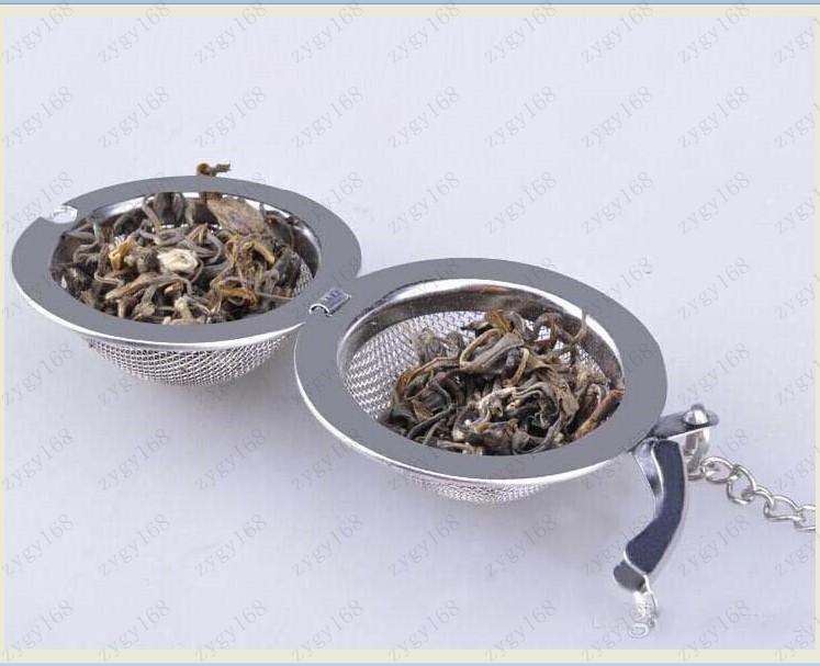 Hot DHL Best Price Stainless Steel Tea Pot Infuser Sphere Mesh Strainer Ball 5cm Free shipping