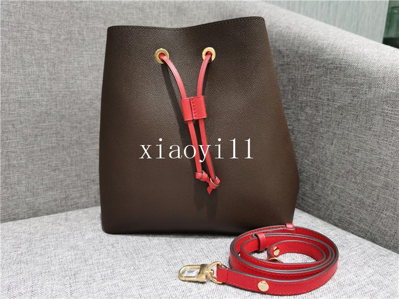 Сумка дизайнер известная печать 2020 мешков на ремне кручение женские ведро сумки кожаные цветок crossbody неоноe сумка ное кошелек Qqxff