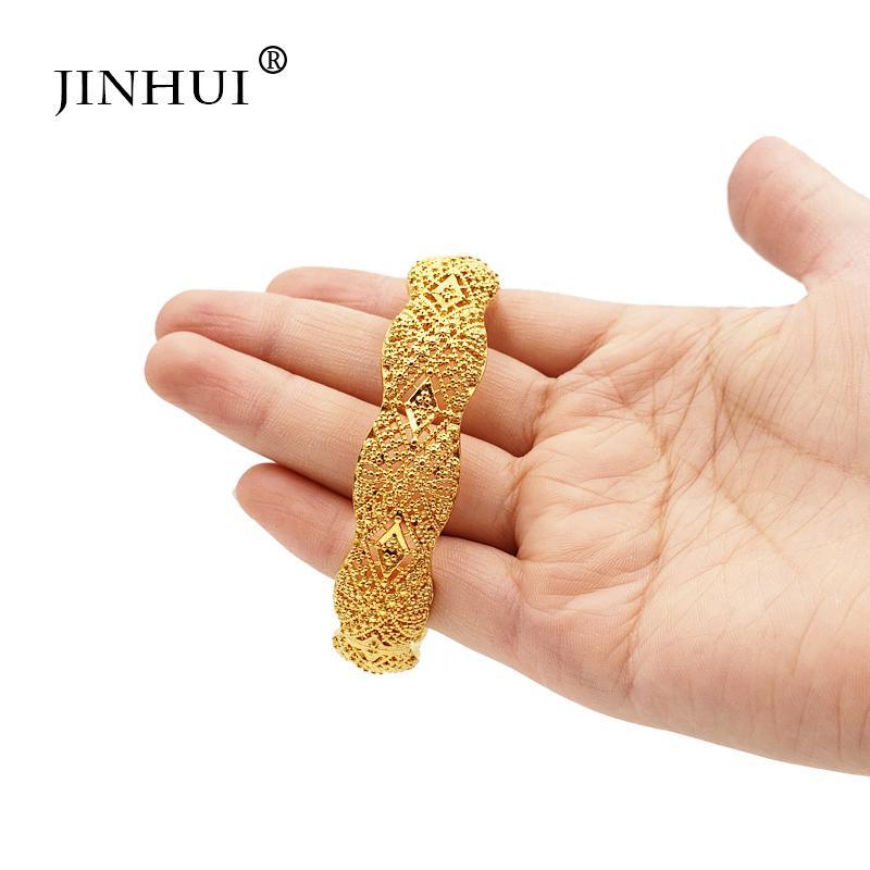 Braccialetto di colore dell'oro di nozze bracciali per le donne la sposa possono aprire Bracciali etiope / Francia / Africa / Dubai / regali gioielli viking