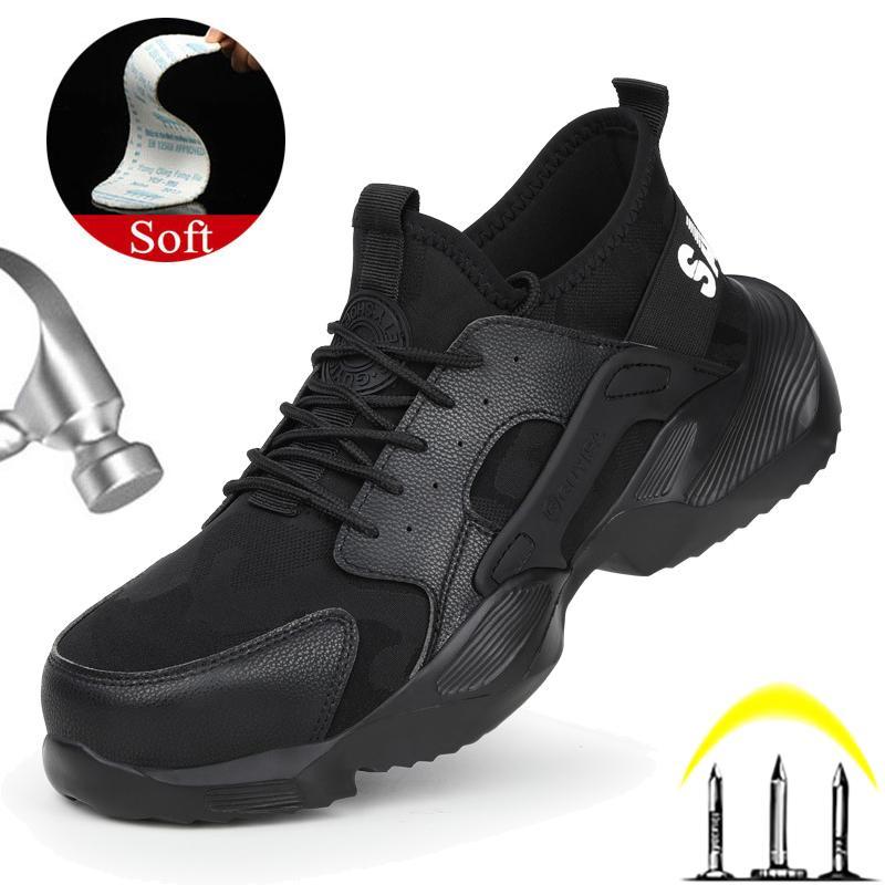 Работа Boots Мужчины Строительство Открытый сталь Обувь проколостойкий Работа Кроссовки Мужские зимние ботинки спецобоуви со стальным носком