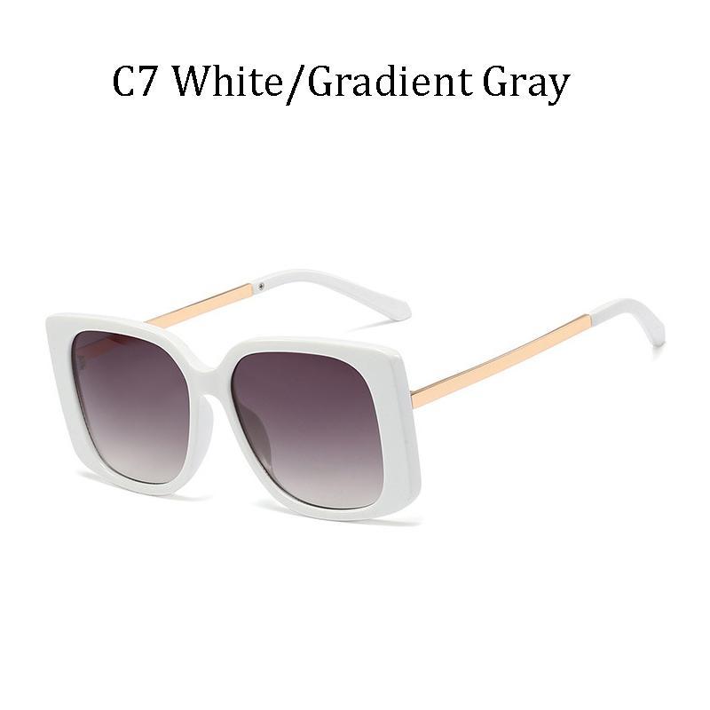 Mesdames Métal Sol Square Hommes Sunglasses Lunettes de soleil Kinlion Grand Vintage Vintage Lunettes de Prestige Dames Oculos Gafas de Oversize 2020 Dekjv