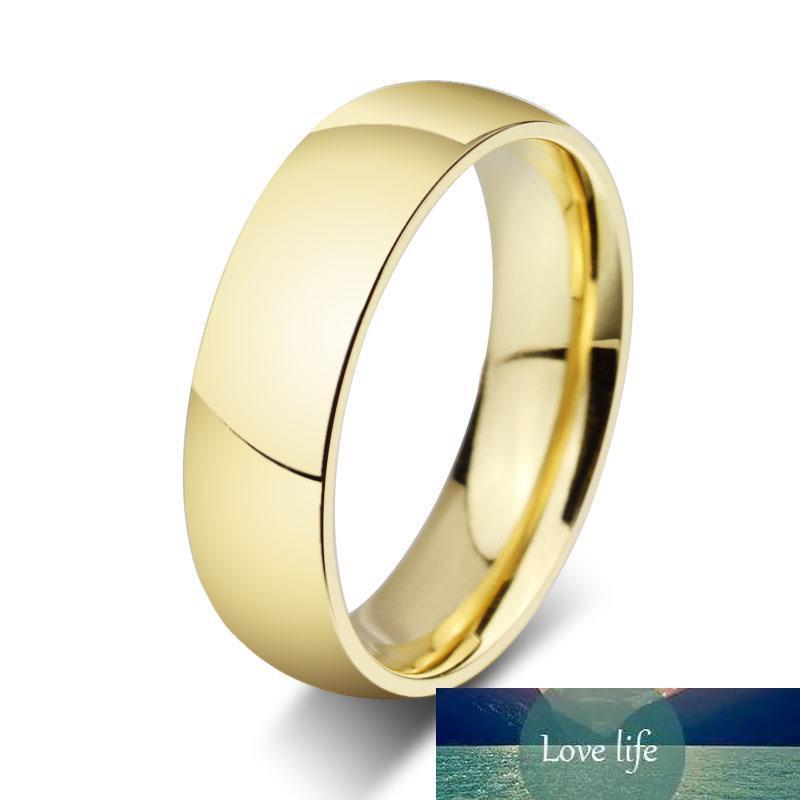 Erkekler için Toptan Paslanmaz Çelik Yüzük 18K Altın Yüzük ve Kadın Düğün ve nişan yüzüğü R-012