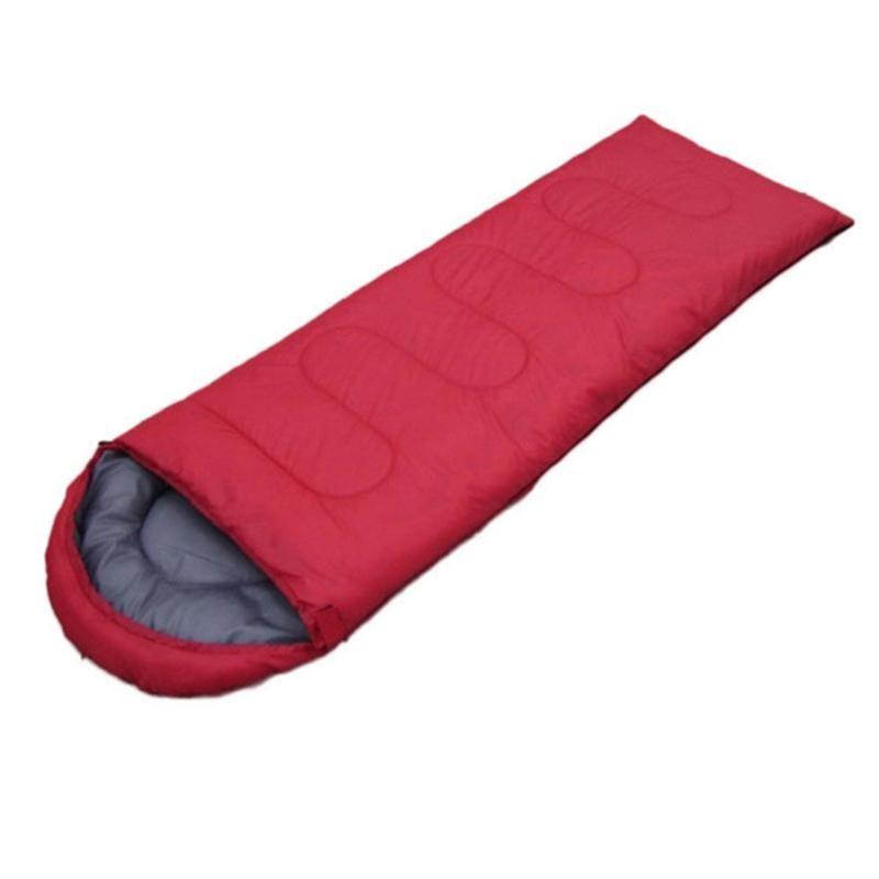Envelope Outdoor Camping Adult Sleeping Bag Portable Ultra Light Waterproof Travel Hiking Sleeping Bag With Cap Dropshipping