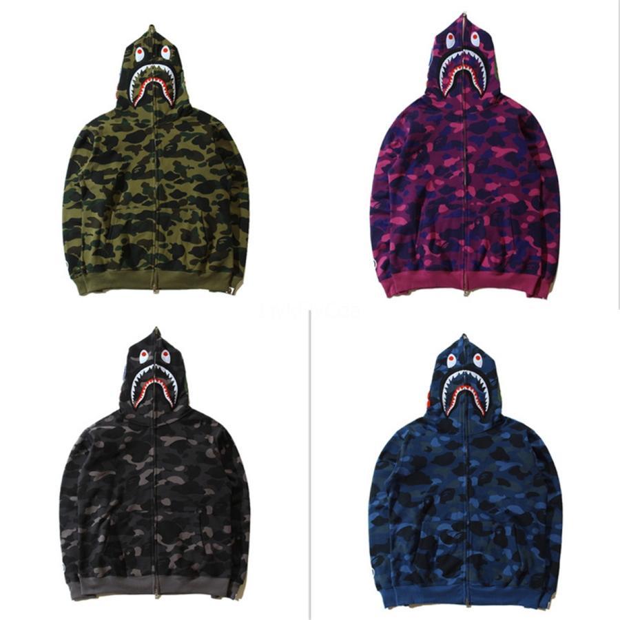 Alta Qualidade Mens Hoodies Plus Size Jacket Brasão Masculino Cardigan manga comprida hoodies e as camisolas moletom com capuz Treino # 425