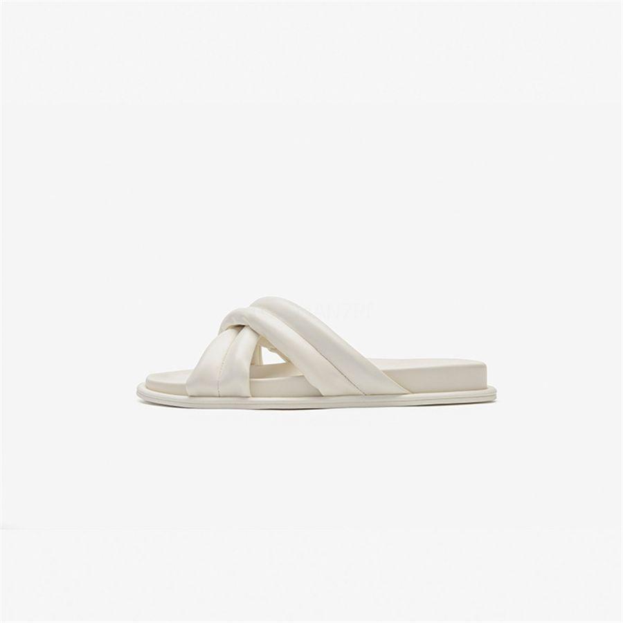 Com Wo Chinelos Sandálias saltos de sapatos de couro real alta Chinelos Qualidade Moda Scuffs Chinelos Sapatos casuais PT817 # 141