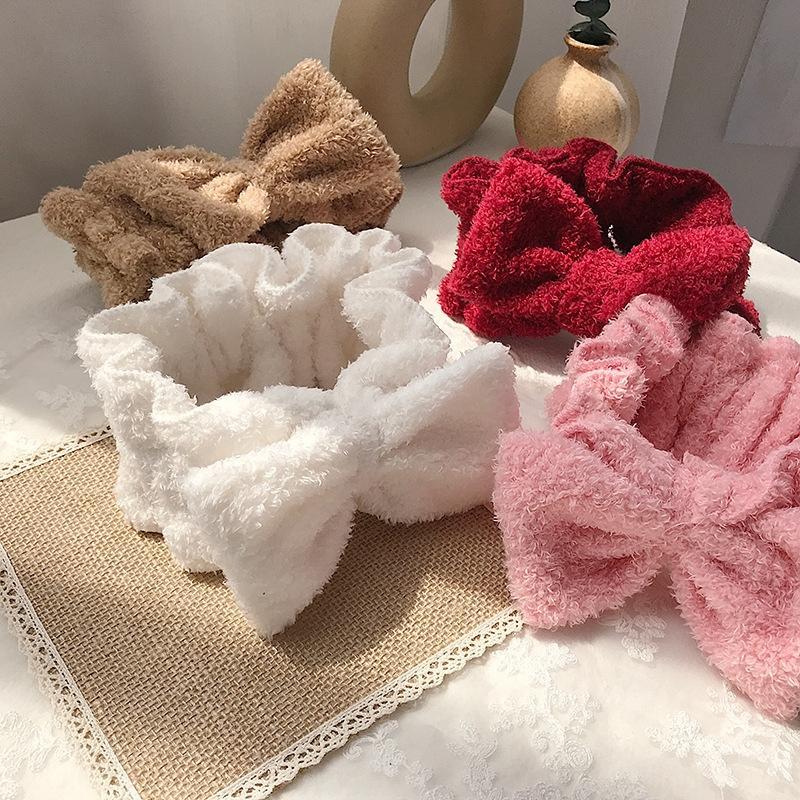 GT3op Red fascia per capelli ragazza di bowknot faccia lavare semplice coreana Internet Celebrity Mori Super farfalla copricapo fata copricapo della fascia