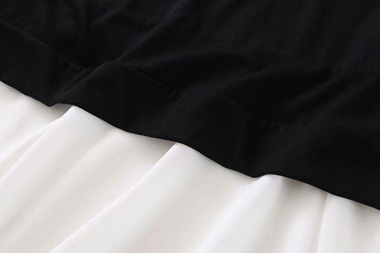 B2XH-faux deux pièces ourlet couture en mousseline de soie Vêtements femme coréenne robe 2020 été nouveau B2XH-faux deux pièces ourlet couture en mousseline de soie coréenne WOM