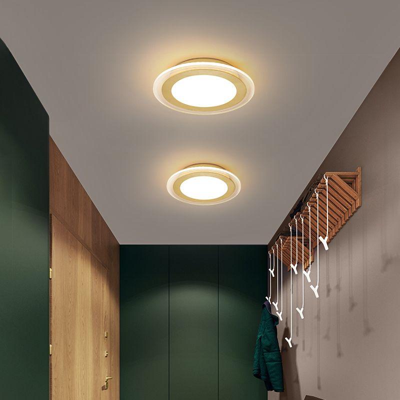 집 부엌 복도 밤 복도 발코니 입구 라운드 황금 현대 LED 천장 램프 현대 LED 천장 조명