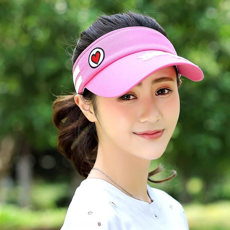 NlmEU Kore tarzı kadın yaz boş güneş tenis şapka güneş şapka çalışan Tenis topu kap boşaltmak