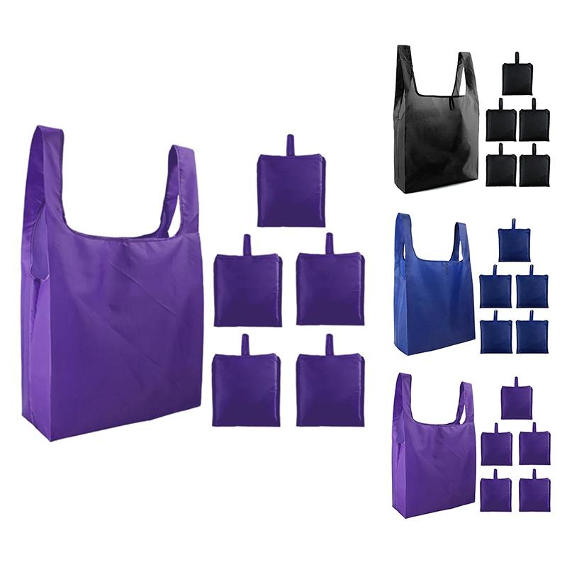 Tote Bags Gift Bags for Grocery Shopping Reusable 6 Machine Washable Foldable Ripstop Totes