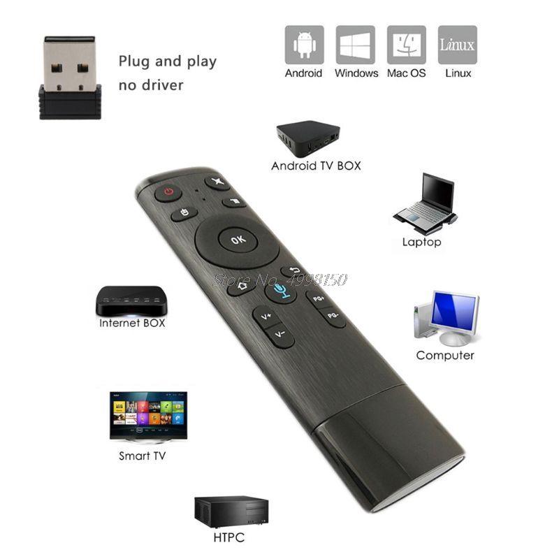 Controladores remotos caem por atacado Q5 controle de voz giroscópio mouse de ar com microfone 3 giroscópio para a caixa de Android da TV inteligente