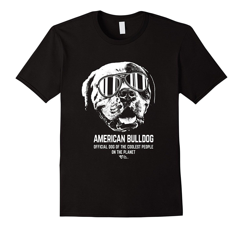 2019 Американский бульдог Shirt Официальный собака из Крутейший людей вскользь о-шее свободно летней футболки для мужчин