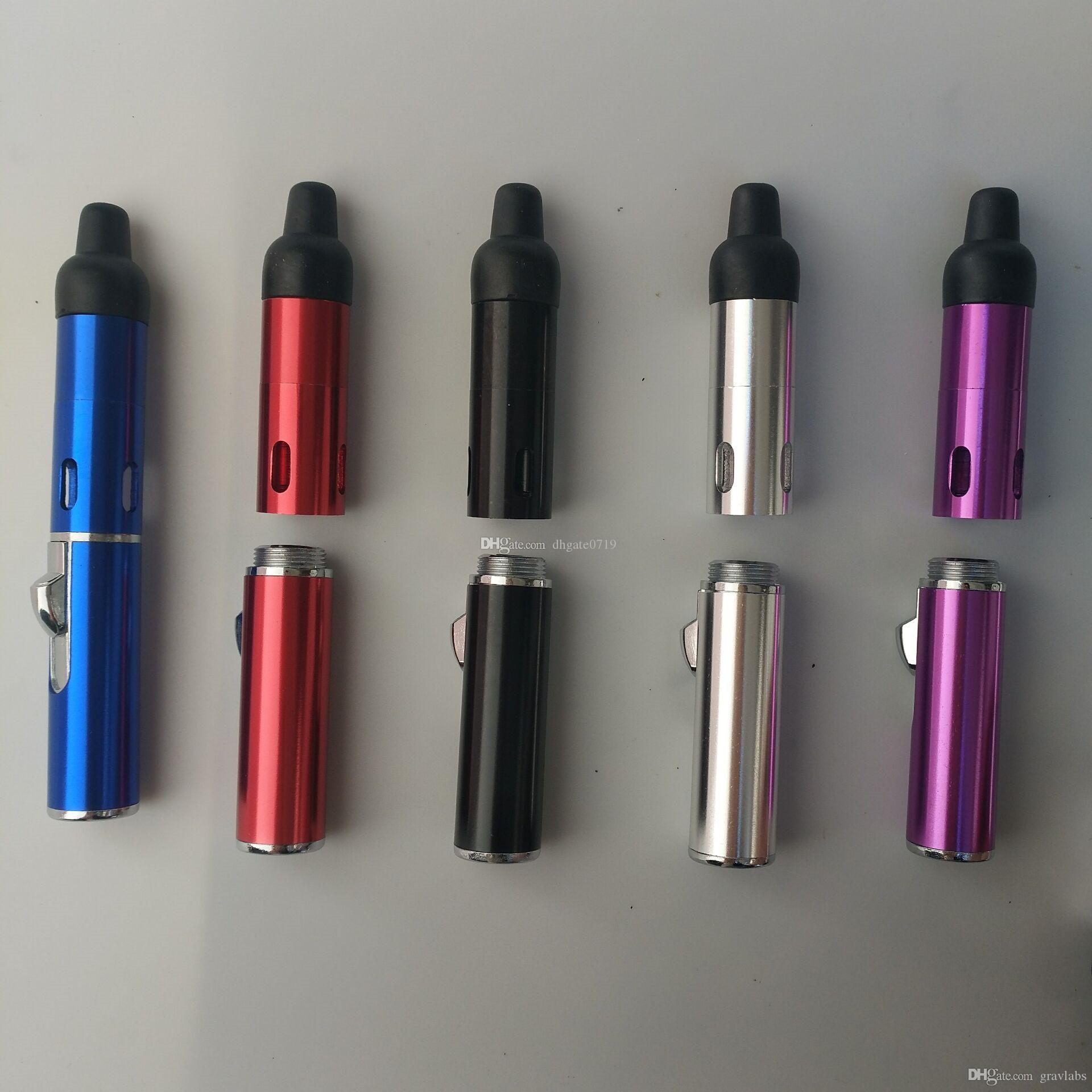 Smoking Pipe Click N Vape Sneak A Vape Sneak A Toke Herbal Vaporizer E-Cigarette Water and Wind Proof Torch Lighter Free Shipping