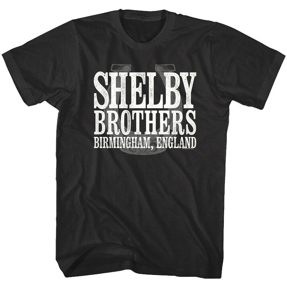 T shirt Birmingham Inghilterra Lucky Horse Shoe Peaky Blinders Shelby Brothers uomo (1)