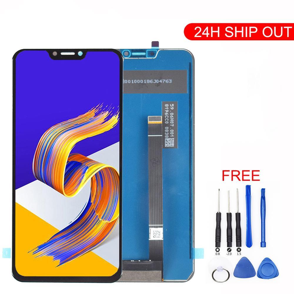 """6.2 """"1080 س 2246 لشاشة أسوس ZE620KL LCD شاشة عرض تعمل باللمس محول الأرقام الجمعية لZenfone 5 2018 GAMME ZE620KL LCD التي تعمل باللمس"""