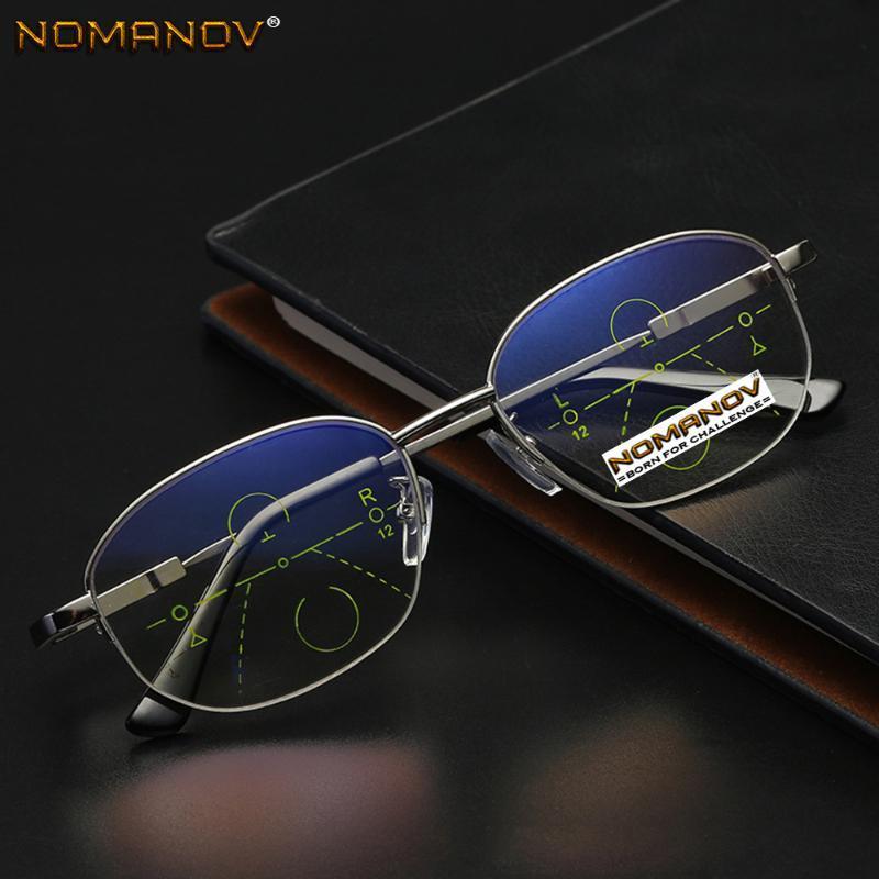 Round Memory Frame Anti-fatigue Lens Men Women Progressive Multifocus Reading Glasses Add 75 100 125 150 175 200 To 400