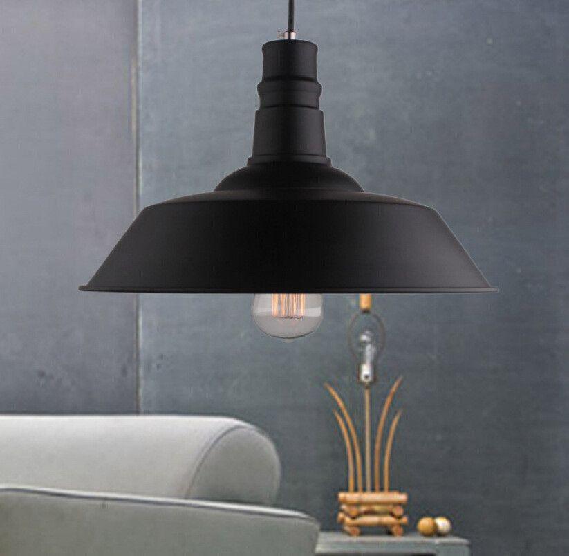 Industrial Retro Style Art Led Pendant Light Black White Edison Light Bulb Pendant Lamp Hanging Light Luminaries Lampshade