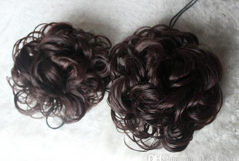 And Type Fluffy Curls Head Accessories Wig Women The Contract Large Rope Color Curly Hair Beautiful Buckle 4 Messy Draw Hair bbyeC
