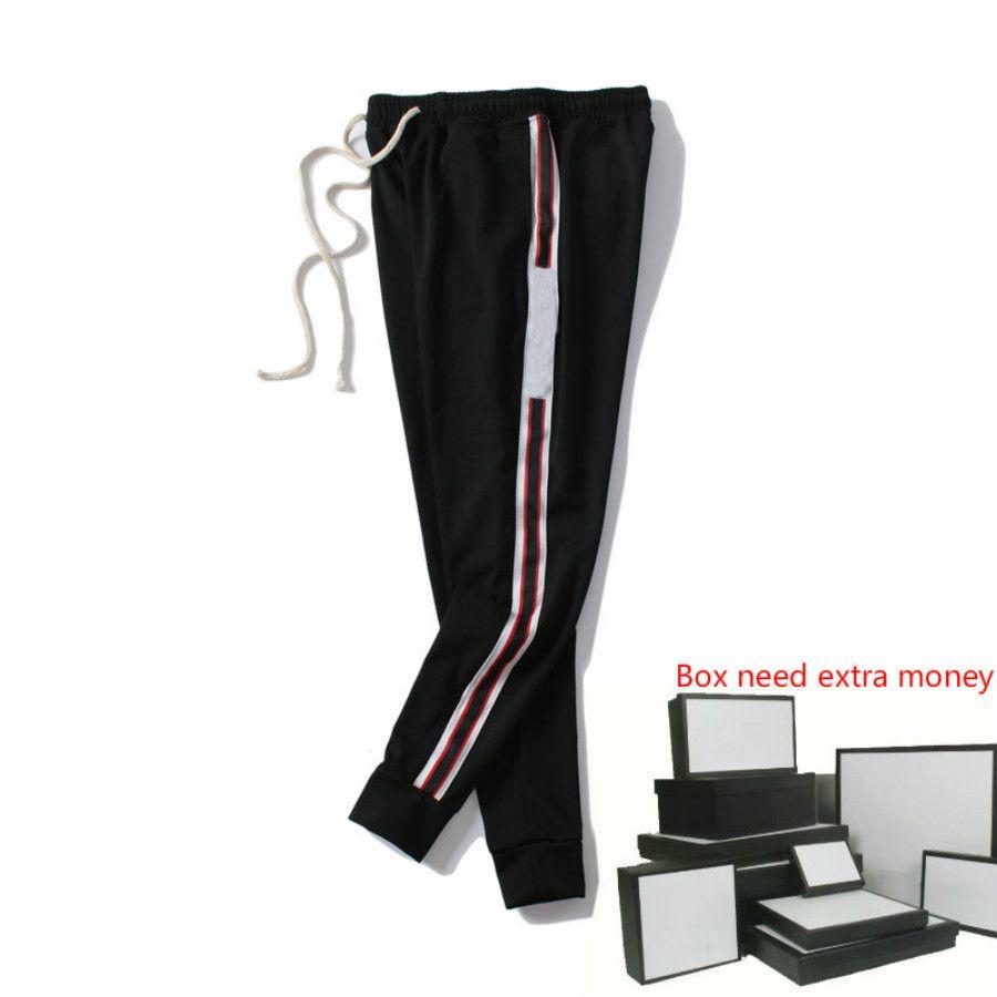 Pantalones para hombre de la moda de los hombres de lujo del estilo de Italia pantalón letras impresas 20FW Moda Joggers Track Pant tamaño de la ropa M-2XL