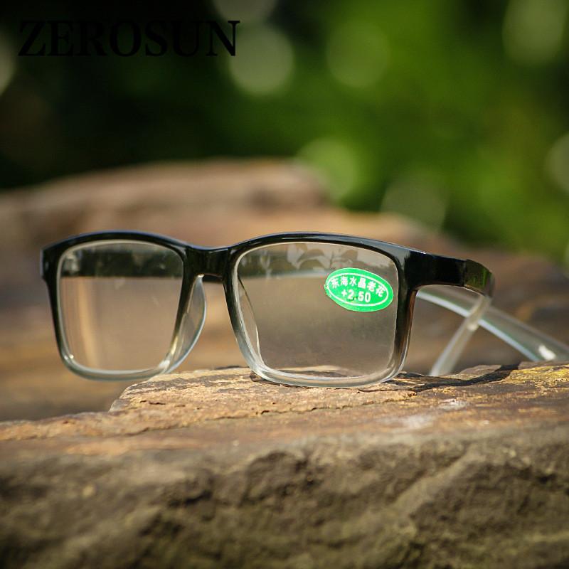 Zerosun Glass Anti Glasses Men's Hombres Reading Scratch Women HD 150 Piedra Diopter cerca de Vision Case +100 Lens 200 250 Eyewear Free DTAXM