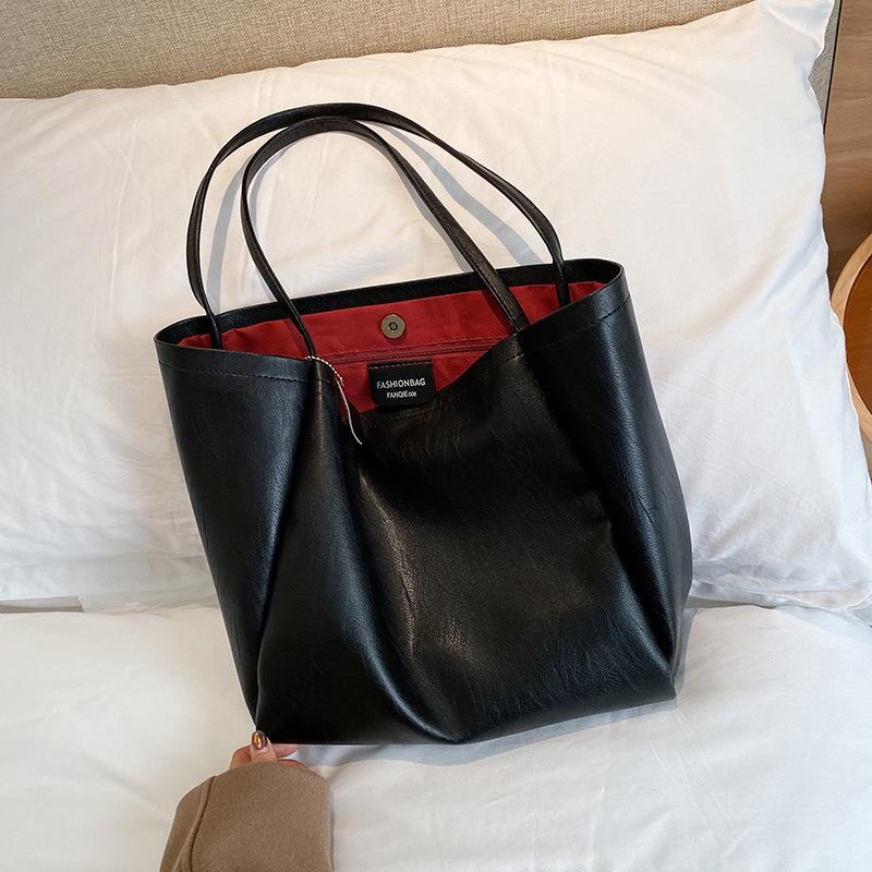 Heiße Verkaufs-Art- und Messenger-PU-Leder Schultertasche für Frauen-beiläufige Einkaufstasche weiche Handtaschen Female Große Big Bag Umhängetasche Sac T200914