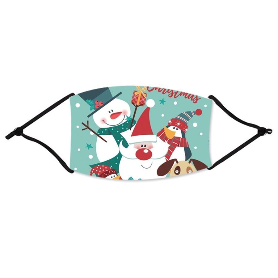 Yüz Kalkanı Toz Koruyucu Noel Maskeleri Yıkanabilir Yeniden kullanılabilir Karşıtı Sis Pamuk Ağız ile 22 Stiller Çocuklar