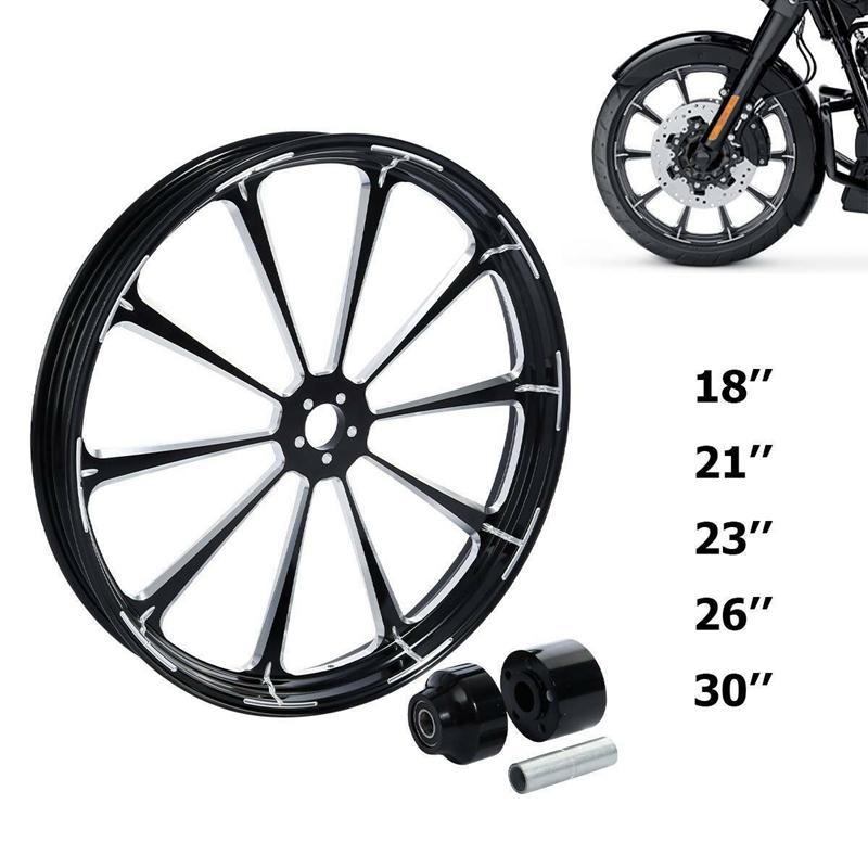 Motocicleta 18 '' - 30 '' frontal de aluminio borde de la rueda Hub Single Disc Para Touring 2008-2020 2020