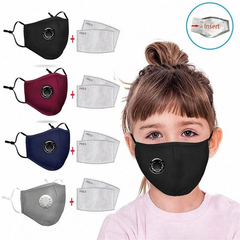 2 Filtreler Dhb47 Jwzs # 4 Ücretsiz Çocuk Nefes Valve Anti duman Anti-toz PM2.5 Aktif Karbon Yıkanabilir Maskeler Styles Nakliye