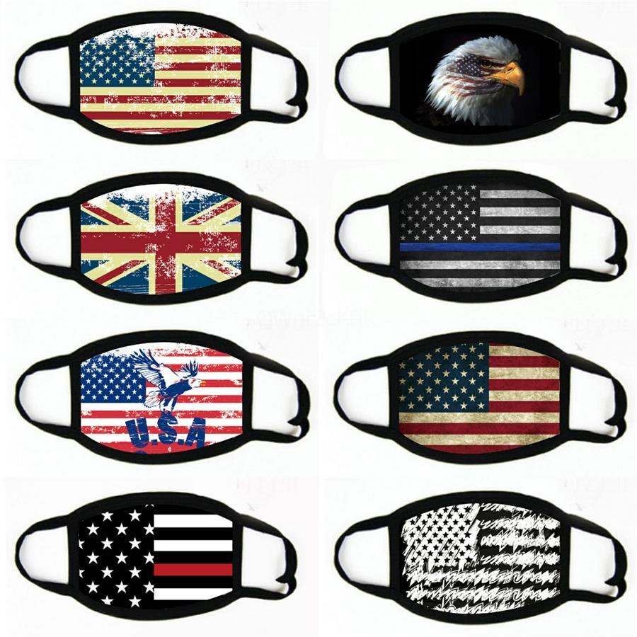 Stati Uniti d'America America bandiera Stampa Maschere Bandane antivento fronte mezzo antipolvere Uomini Parasole Ghetta esterna Sciarpe per le donne # 474