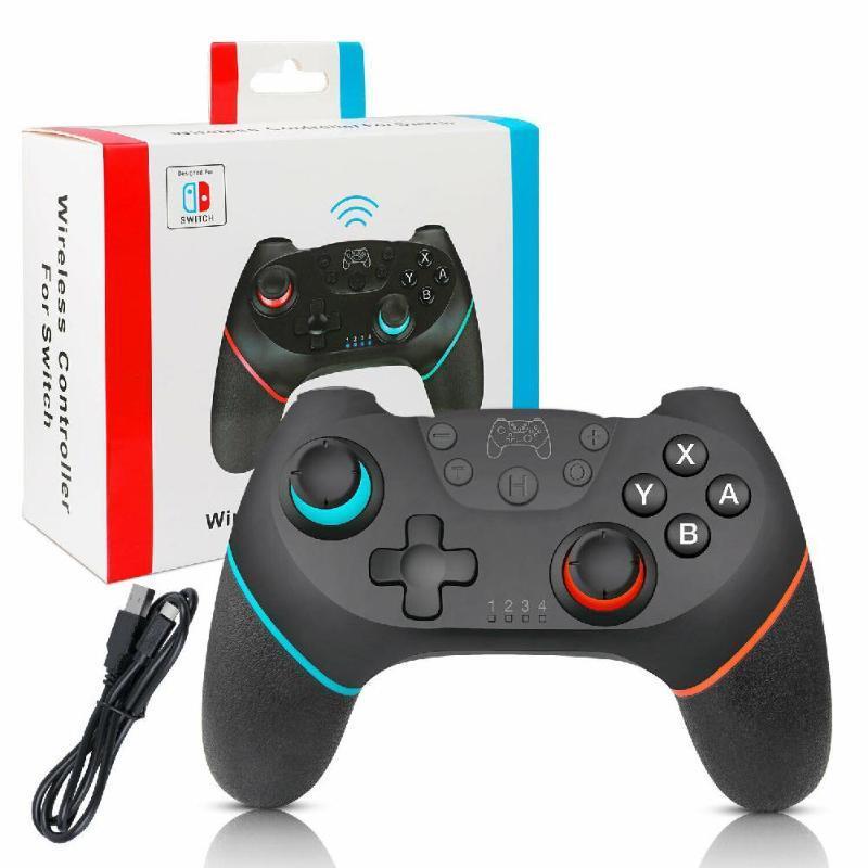Gamepad Controller Pro Commutateur Bluetooth manette de jeu contrôleur pour commutateur de console hôte Pro avec poignée 6 axes pour NS