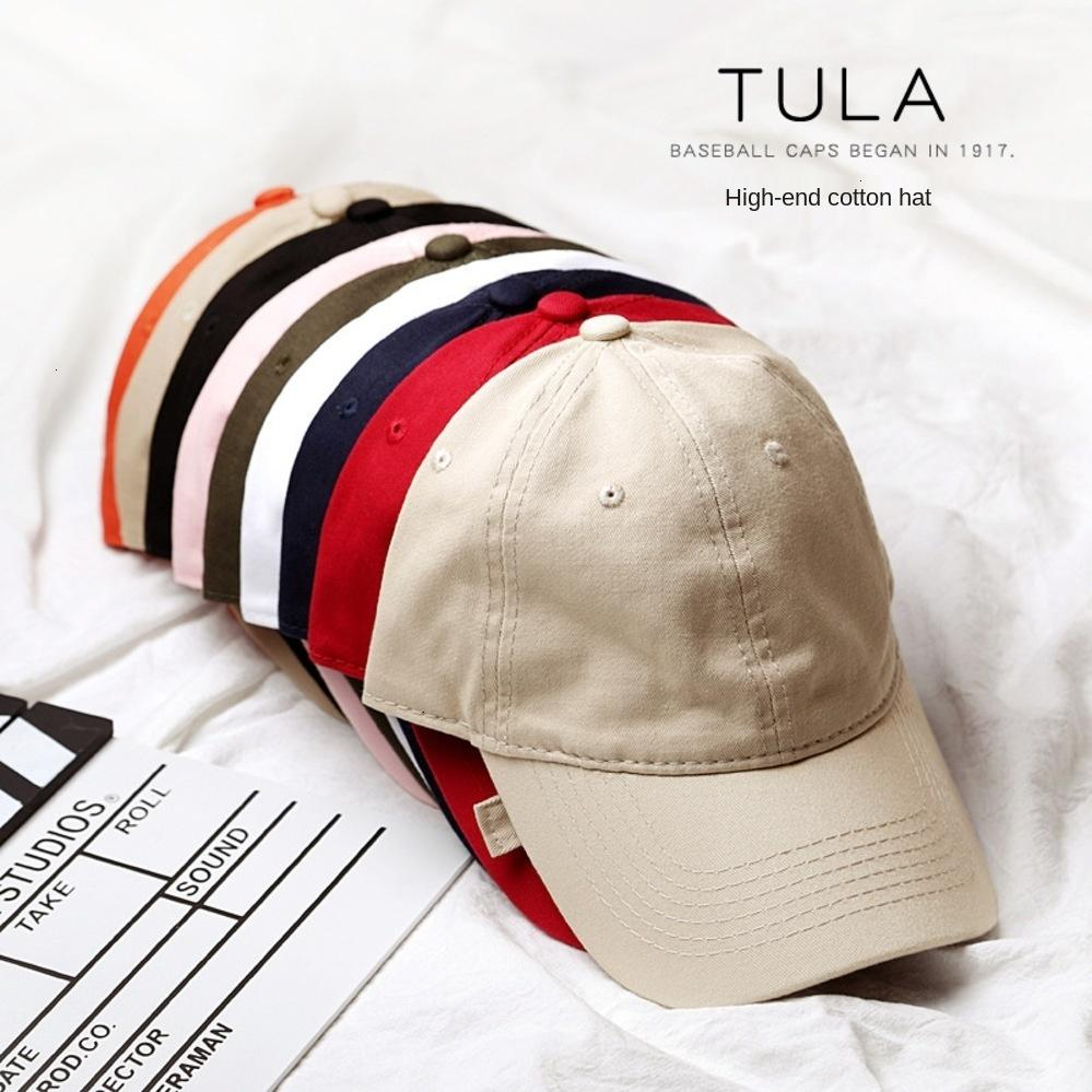 Hats Korean Style High-end Washed Men's Pure Cotton Solid Color Women's Light Plate Hat Embroidered Printed Baseball Cap