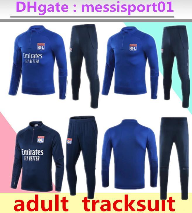 2020/21 Olympique Lyon tracksuit 2020 21 Lyonnais Maillot de football adult training suit AOUAR DENBELE MEMPHIS training suit