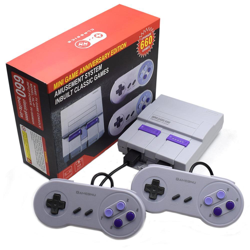 سوبر كلاسيك SFC TV المحمولة البسيطة لأنظمة تشغيل 2018 أحدث نظام الترفيه على 660 SFC NES ألعاب SNES قطرة وحدة الشحن مجانا DHL