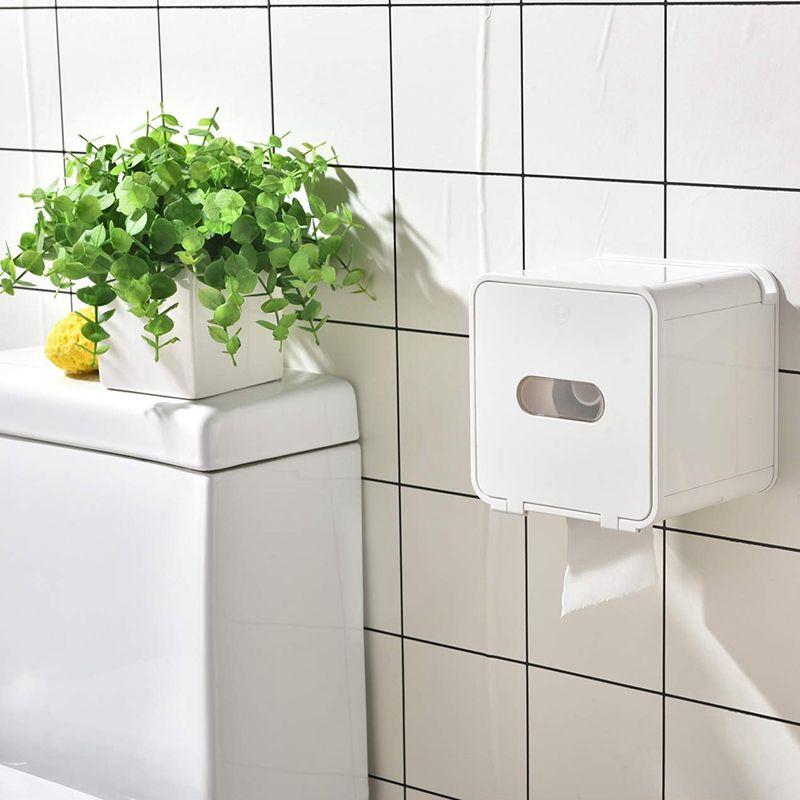 AFBC Водонепроницаемая Все Покрытый держатель для туалетной бумаги Box, настенные ванной комнаты держателя рулонной бумаги, клей Tissue Box с полки Sto