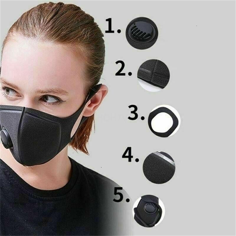 Poeira Free Anti Dhl Sponge Gold! Navio exterior Haze Ciclismo Pó Boca Rosto Máscara Máscaras Sik1 0jag 7JID