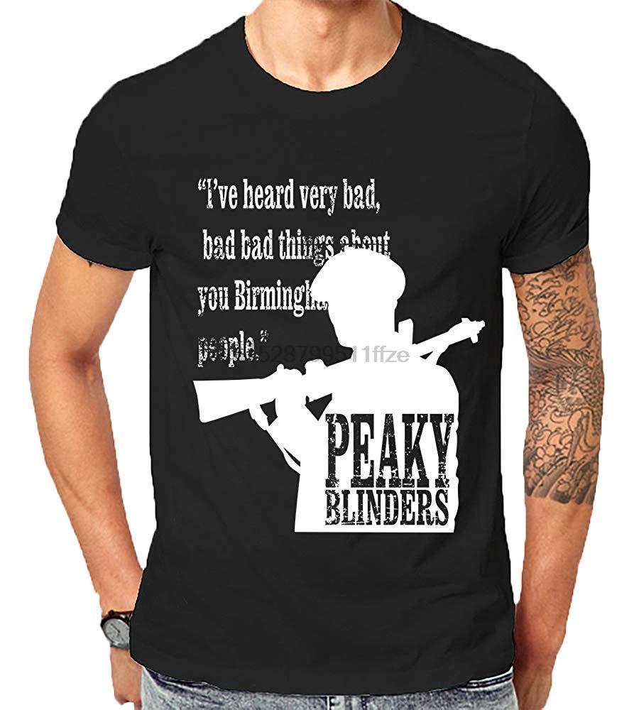 Остроконечный шоры телесериал Вдохновленный Томас Шелби Бирмингем Gangster Tops Tees2019 New Men T-Shirt Свободная одежда Дешевые тройники