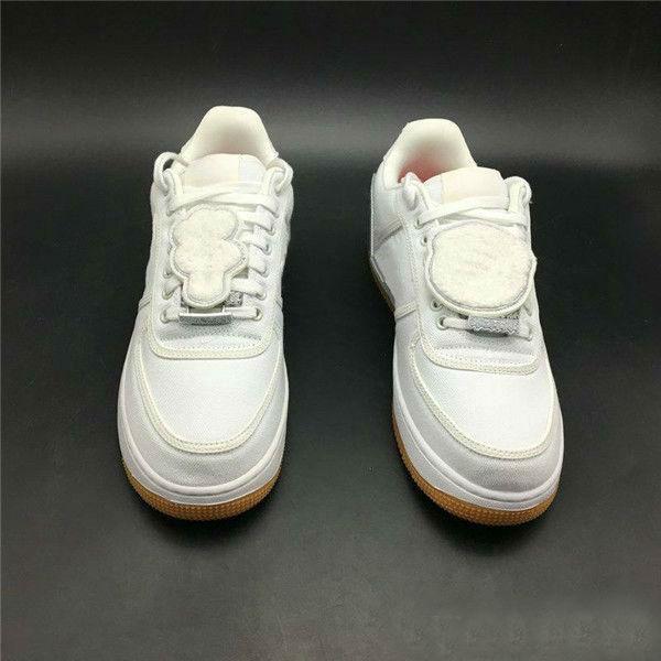 Hommes Blanc 1 1S Skateboard Chaussures Travis Scott X Toile Chaussures Femmes Sneakers Forces Forces Casual Shoe avec boîte
