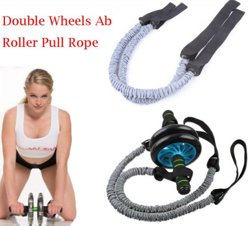 AB Roller Wheel Pull Auxiliary Latex Bands Abdominal Elastic Rally Belt Hose Ropes Slimming Sports Fitness Equipment