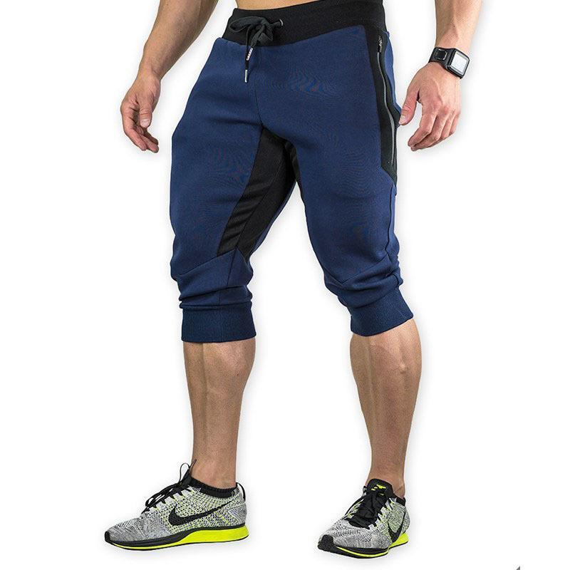 Aptidão a longo Shorts homens correndo Moda Verão Mens Shorts Zipper Pockets Workout Basketball Jogger Vestuário Homem