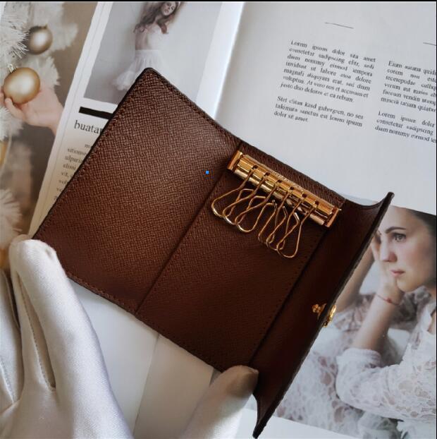 Vente chaude! ! ! Homme classique design de luxe / de femme mini-portable Six cas clé d'embrayage clé meilleure qualité Venez avec le sac à poussière et boîte
