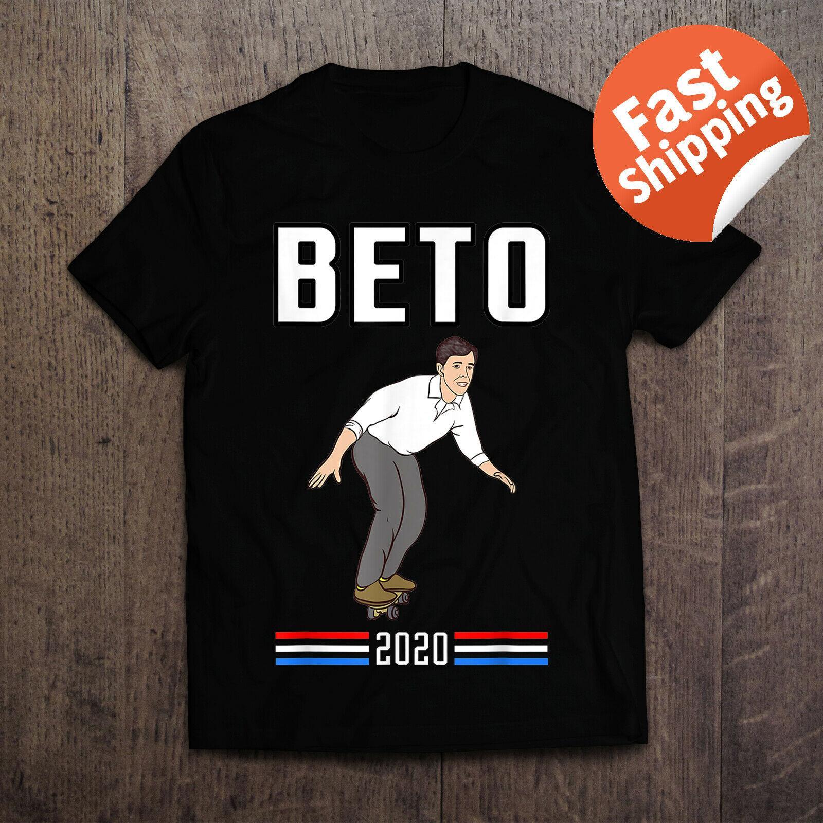 Beto O'Rourke pour le président shirt Beto Skateboard T-shirt style très populaire Hommes Slim Fit Coton de haute qualité du film T-shirts