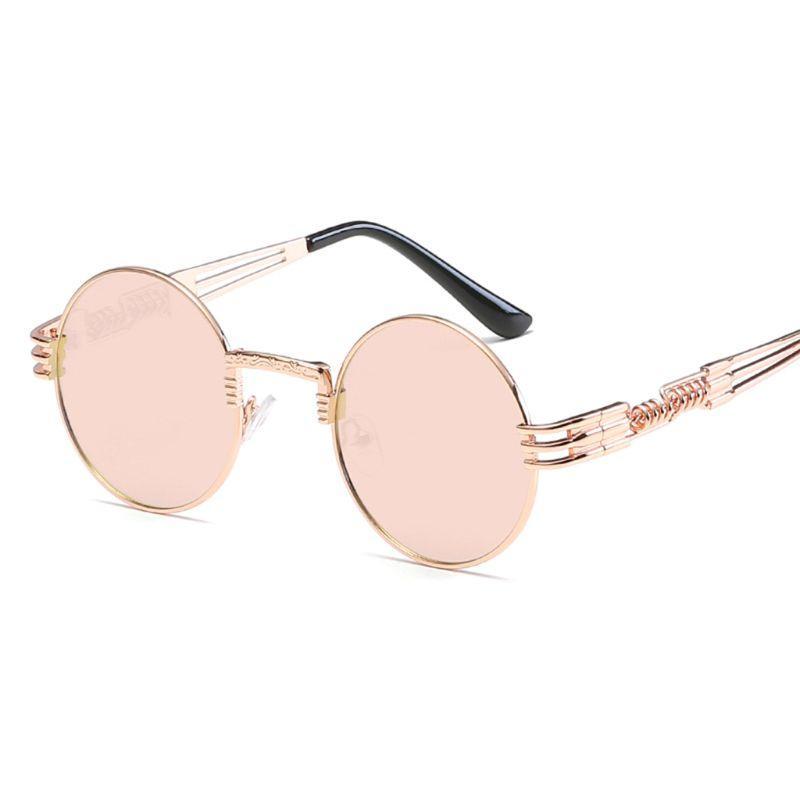 Sun óculos de sol Wapeyeglasses marca quadro óculos de sol homens metal redondo steampunk mulheres redondas óculos de desenhista de óculos tweqa