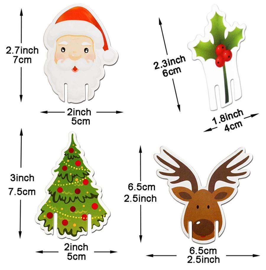 جديد 10 قطع زينة عيد الميلاد للمنزل تسجيل العلم العلم عيد الميلاد سعيد السنة الجديدة حزب عشاء مسواك العلم الغذاء الحلي GWE1818