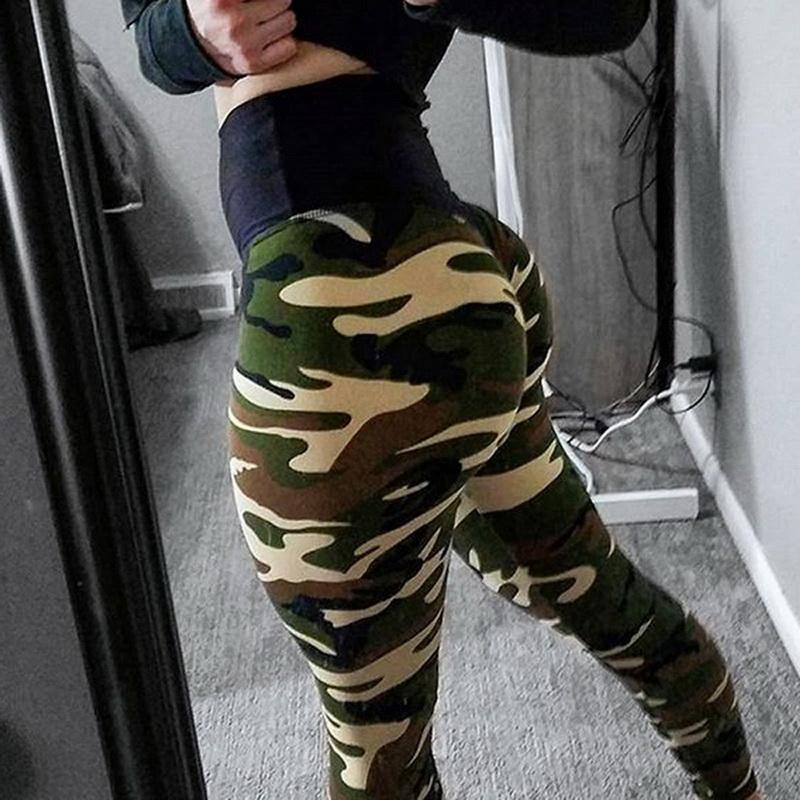 High Waisted browning Camo Leggings Zipper Womens Pants Army Camouflage Active Wear Compression Push Up Jeans 2020